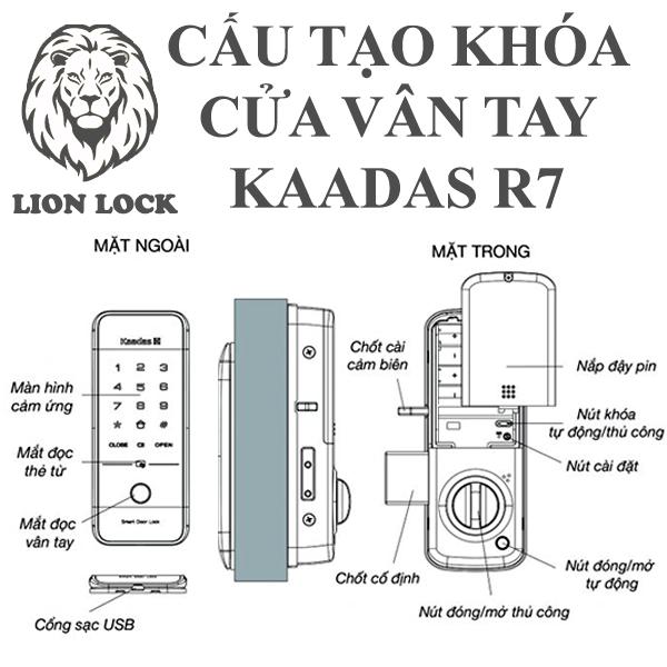 cấu tạo khóa kaadas r7