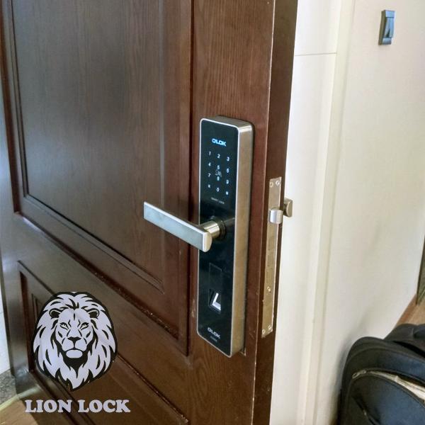Hình ảnh thực tế khóa cửa vân tay olok H3900