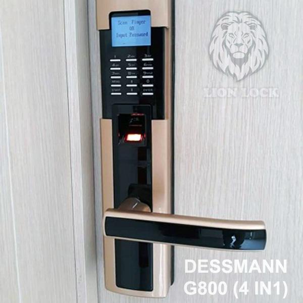 Hình ảnh thực tế khóa cửa vân tay dessmann G800FPC