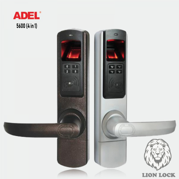 Khóa cửa vân tay Adel-5600-(4IN1)