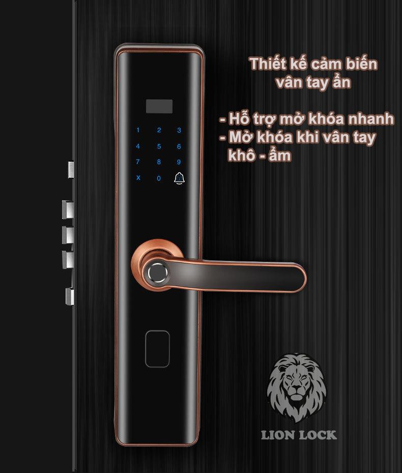 Thiết kế cảm biến vân tay ẩn trên tay cầm khóa A5