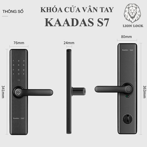 Thông số kỹ thuật khóa kaadas s7