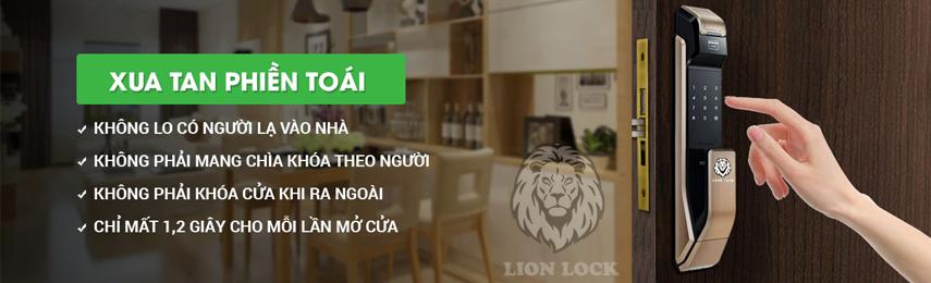 Banner Khóa Cửa Vân Tay Lion Lock