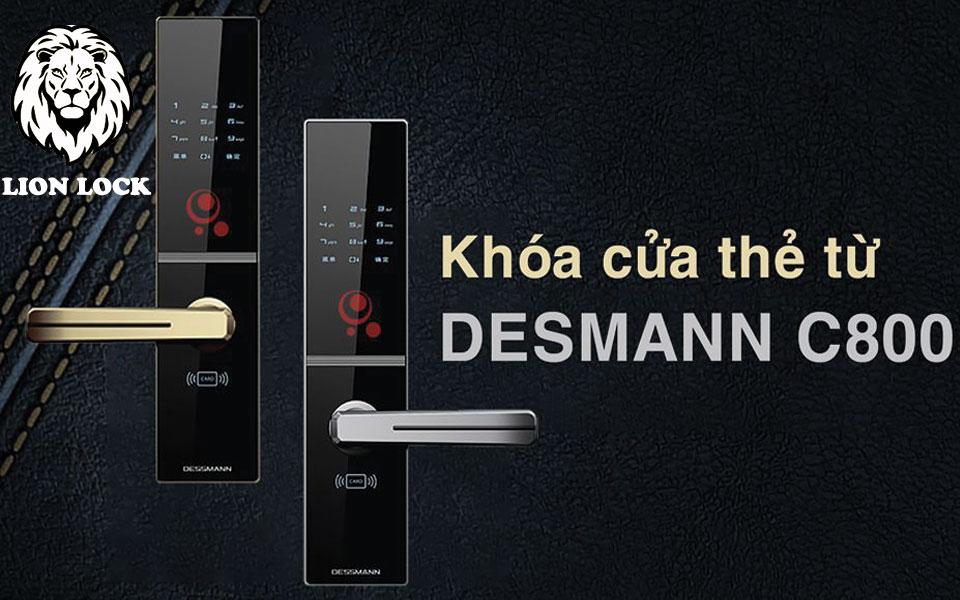 Khóa cửa thẻ từ điện tử DESSMANN C800