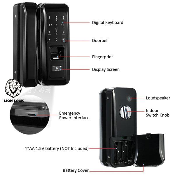 Hình ảnh thực tế sản phẩm khóa cửa kính F5 của hãng IBC