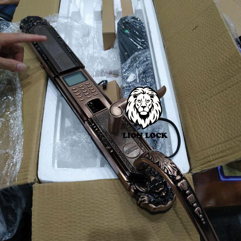 Chất liệu khóa cửa bằng hợp kim sơn tĩnh điện màu đồng