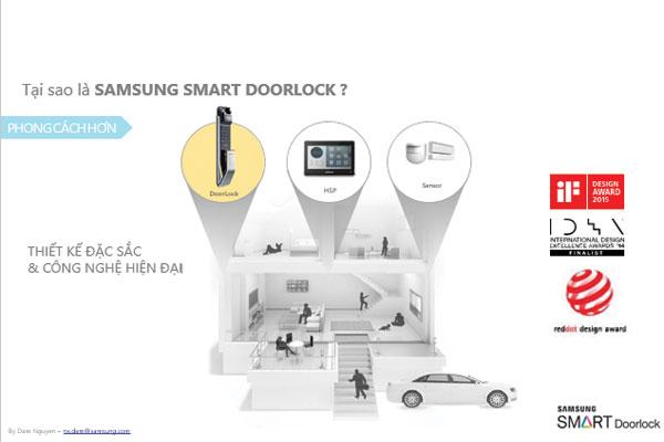 Công nghệ khóa cửa Samsung