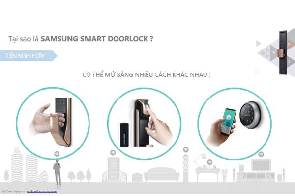 Khóa Samsung mở bằng nhiều cách