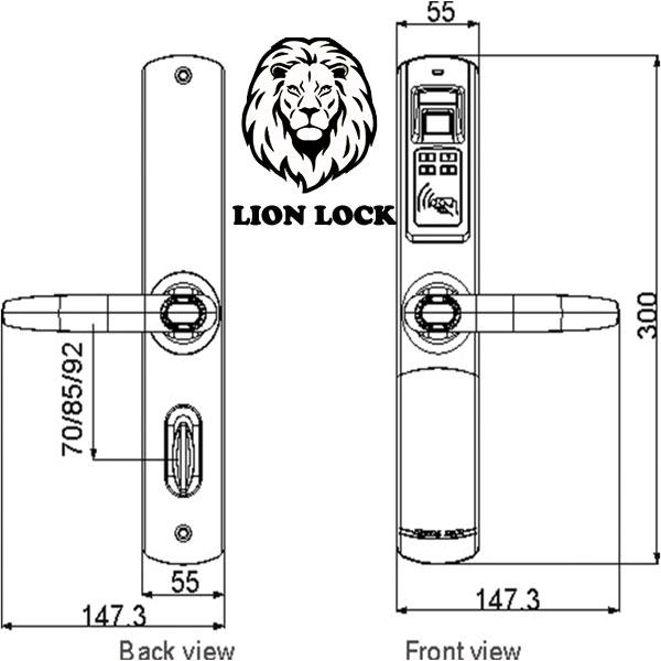 Thông số kỹ thuật khóa cửa adel 5500