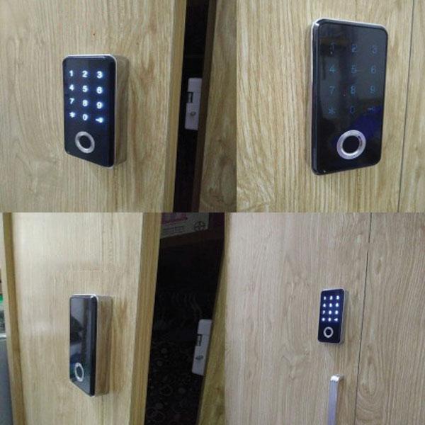Hình ảnh lắp đặt thực tế khóa điện tử vân tay tủ đồ, tủ tài liệu