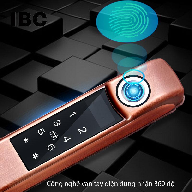 Khóa sử dụng công nghệ vân tay điện dung hiện đại nhất hiện nay. tích hợp nhận vân tay 360 độ