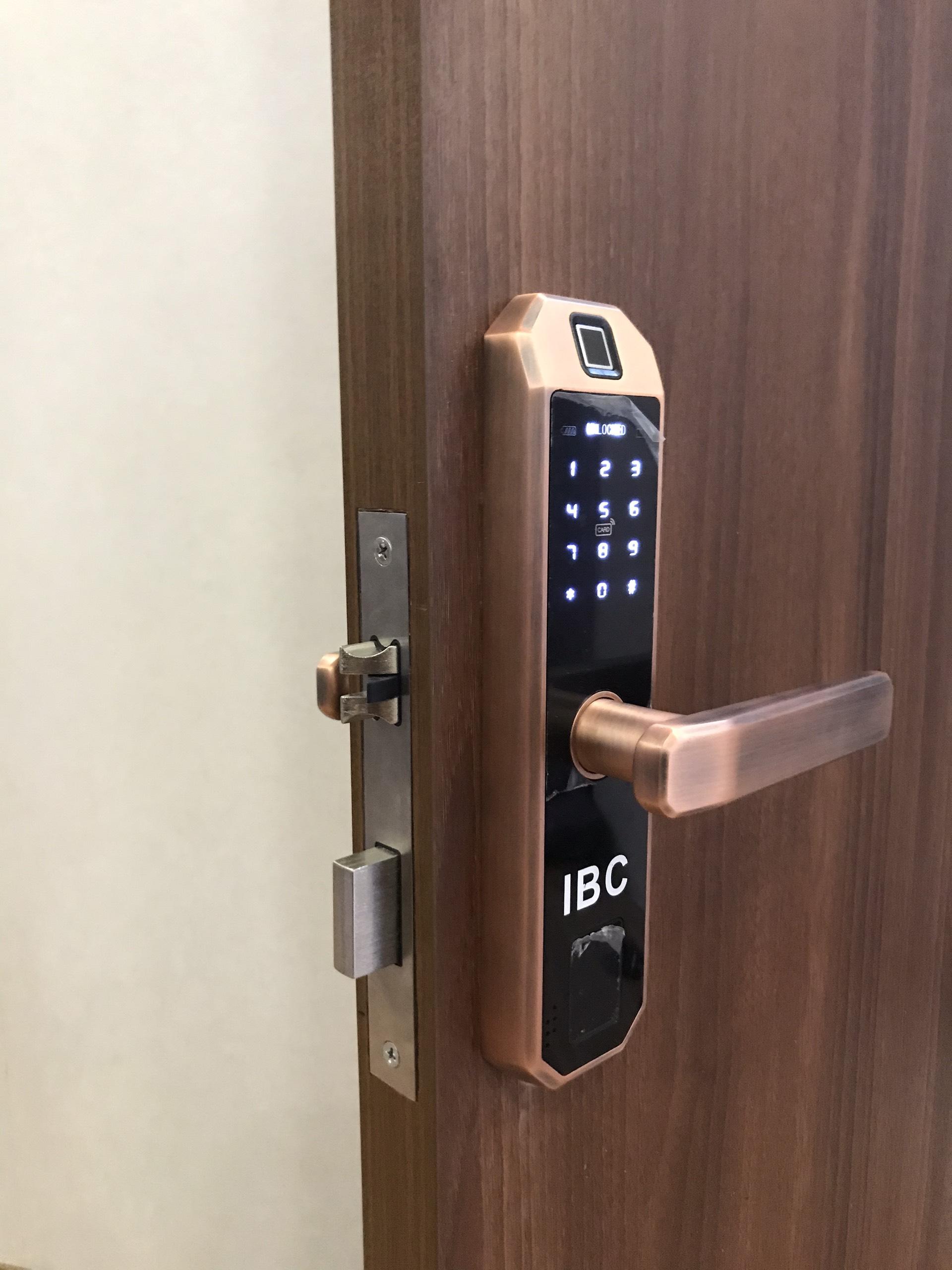 Khóa cửa thông minh IBC A2 lắp tại Hải Phòng