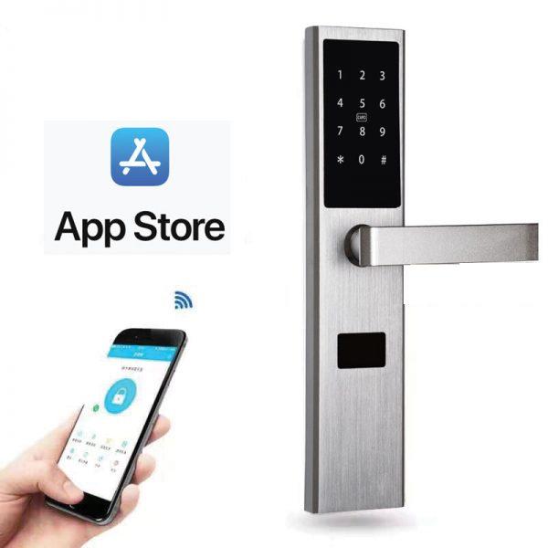 khóa mở cửa bằng app điện thoại ibc a5