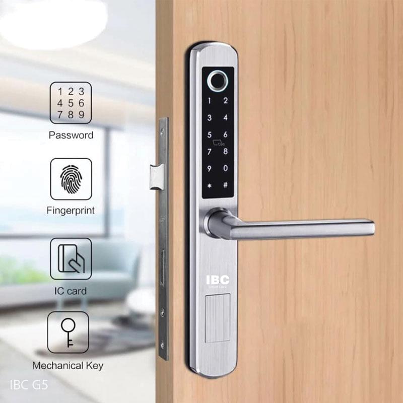 khóa điện tử cửa nhôm IBC G5