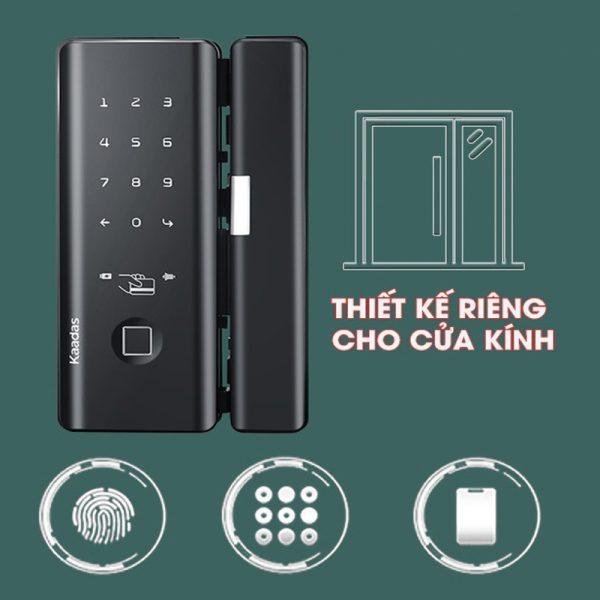 Khóa Vân Tay Cửa Kính Kaadas M500