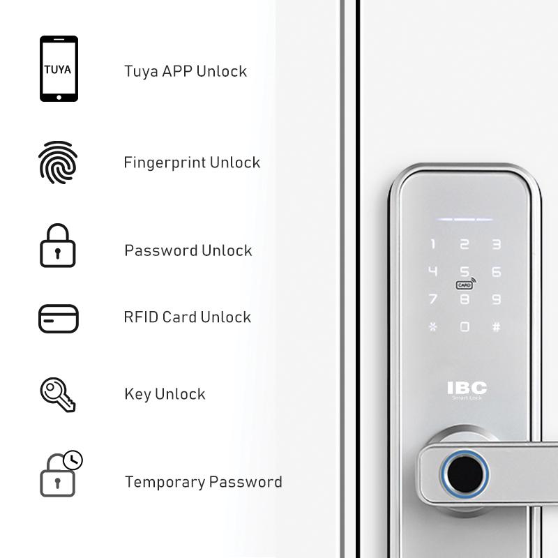 Khóa cửa vân tay mở bằng app điện thoại
