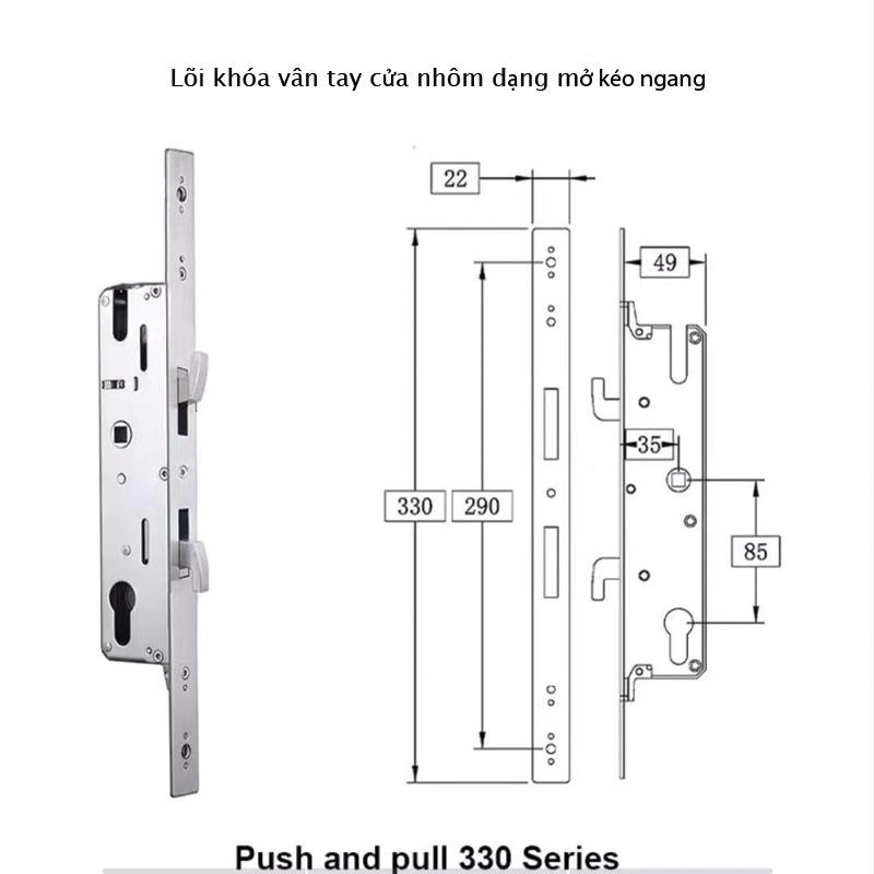 cấu tạo lõi khóa cửa nhôm